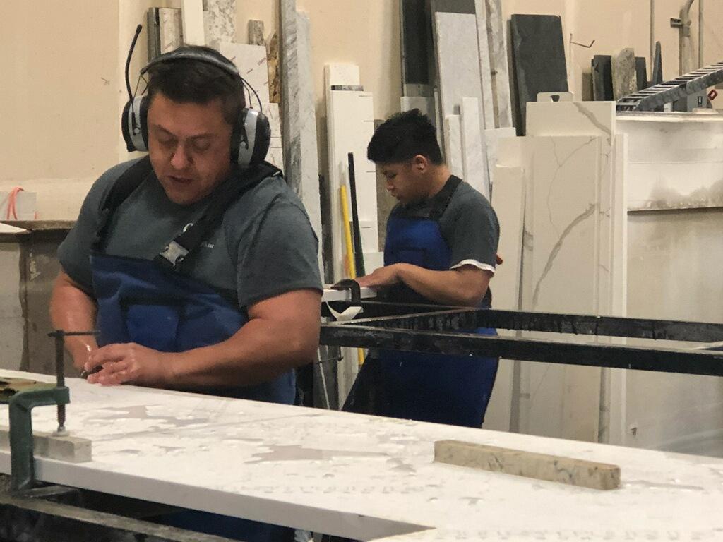 Custom Stone Amazing Crew at Work