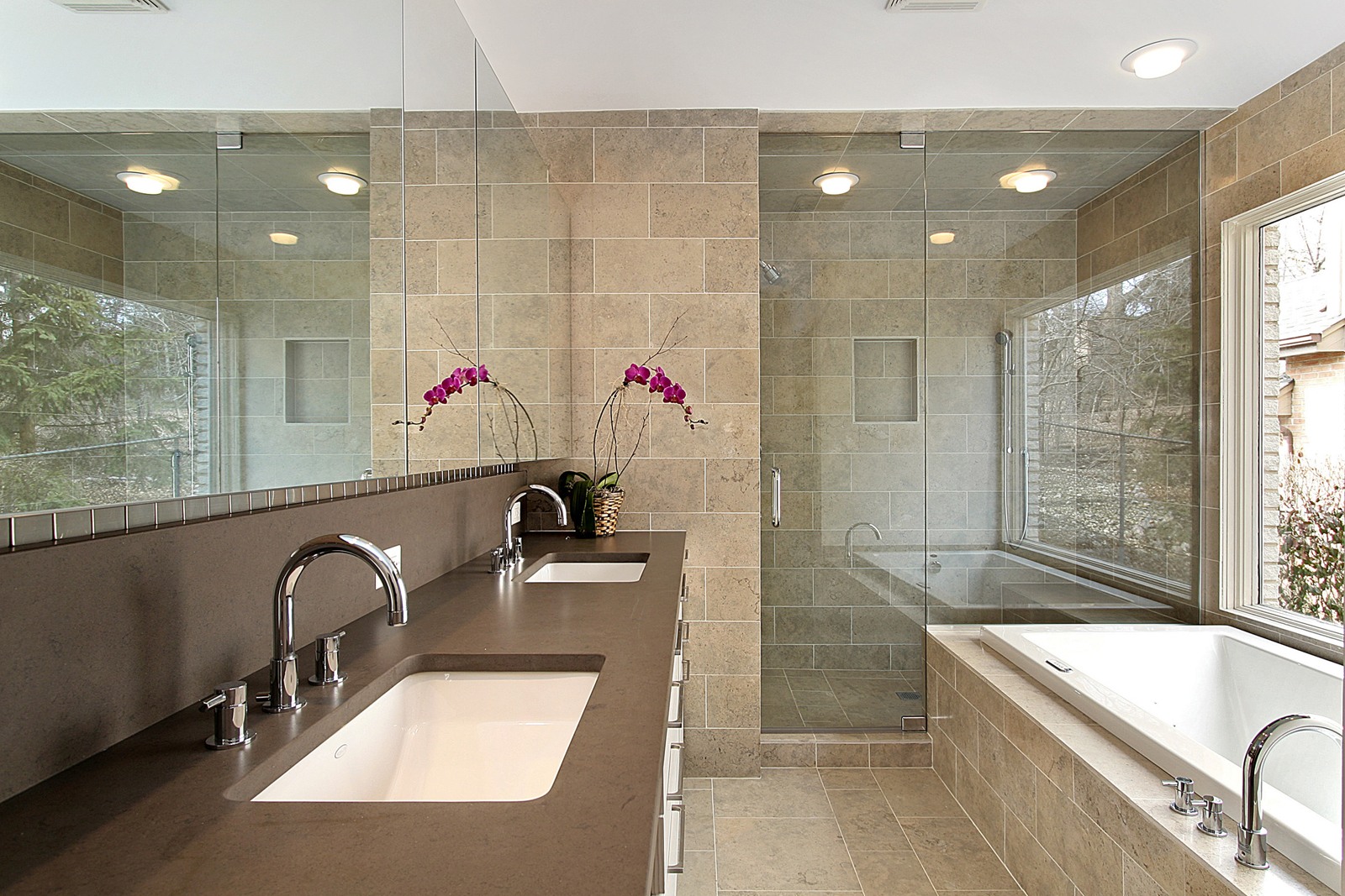 Master bath in luxury home
